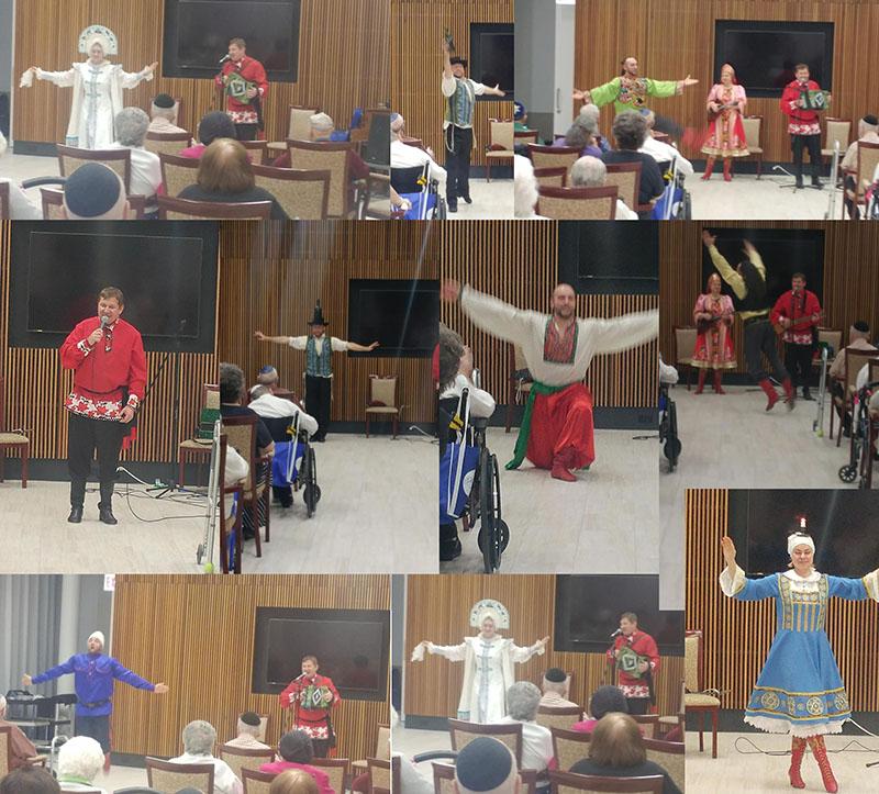 Ensemble Barynya, Serhiy Tsyganok, Elina Karokhina, Mikhail Smirnov, Park Plaza Senior Living Community, Chicago, IL