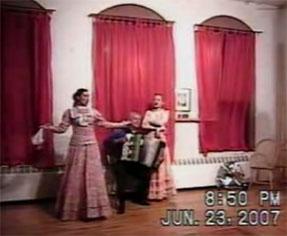 Cossack dance and music trio